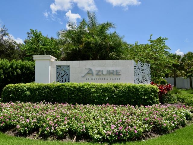 Azure at Hacienda Lakes - Entry Monument Sign