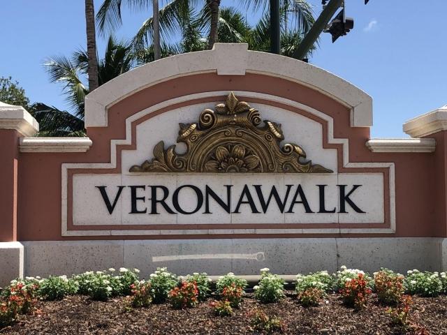 Verona Walk Monument Sign at Entrance
