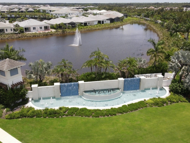 Azure at Hacienda Lakes - Water Feature Drone Picture